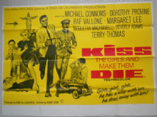 Kiss the Girls and Make Them Die, Original UK Quad Film Poster, Mike Connors, 66